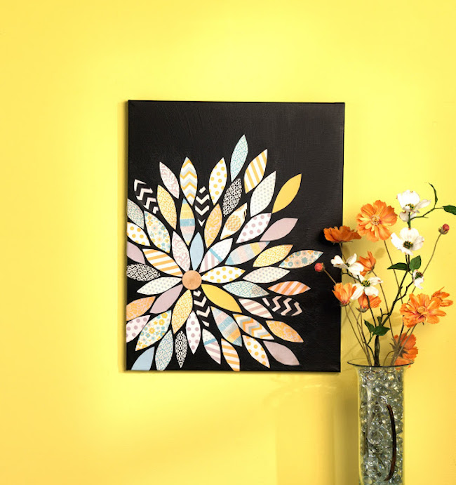 24 awesome diy canvas art ideas canvas printers online for Diy flower canvas wall art