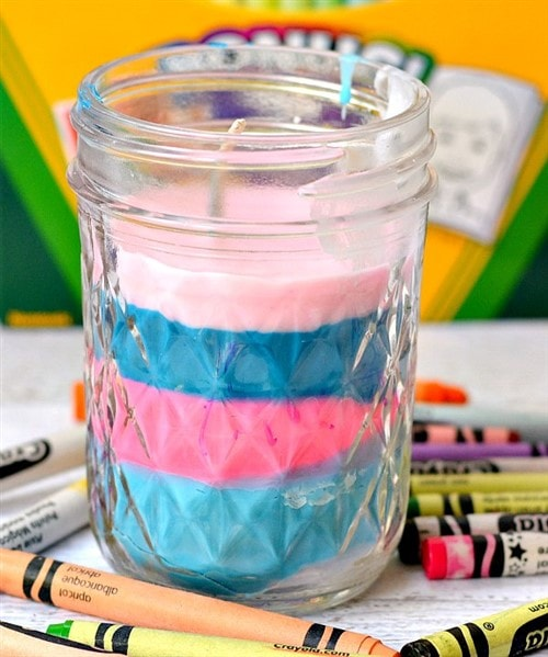 Mothers Day Crafts For Kids - Crayon Candle