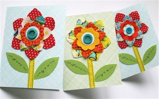 Mothers Day Crafts For Kids - Flower Card