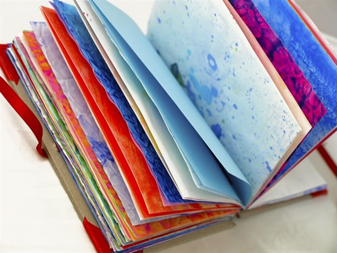 Mothers Day Crafts For Kids - Recycled Art Handmade Notebook