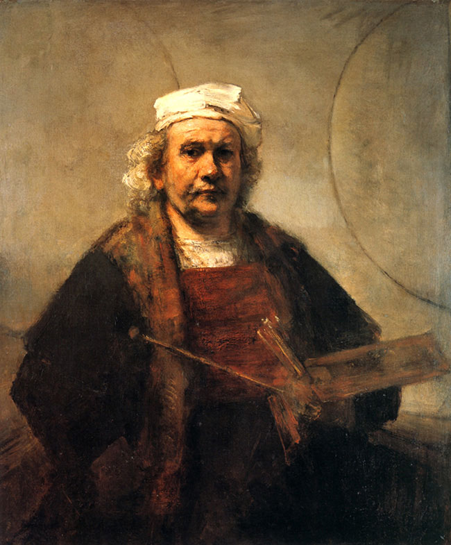 Photo Printing - Selfie History - Rembrandt Self Portrait with Two Circles.