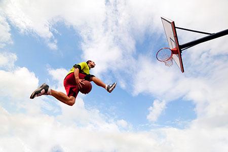 Photo Collage - Child Star - Basketball Slam Dunk