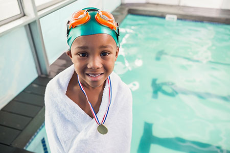 Photo Collage - Child Star - Swimming Medal