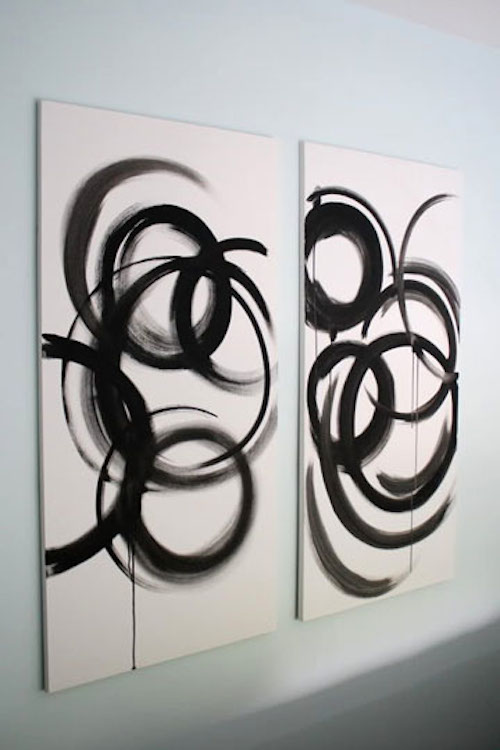 DIY Canvas Art Ideas - Abstract Groucho Marx