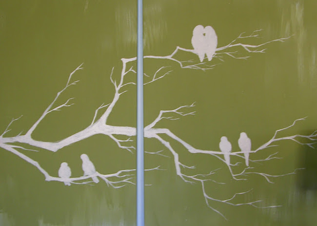 DIY Canvas Art Ideas - Branches Birds