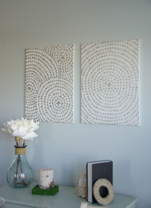 DIY Canvas Art Ideas - Silver Brush