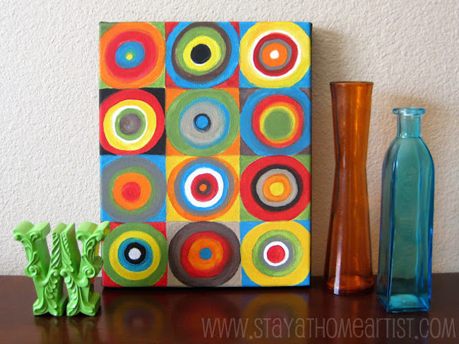 DIY Canvas Art Ideas - Colourful Colorful