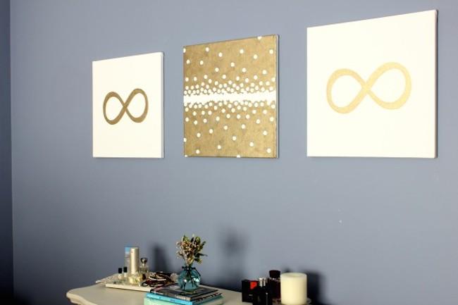 DIY Canvas Art Ideas   Circle Labels