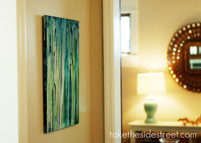 DIY Canvas Art Ideas - Drip Painting