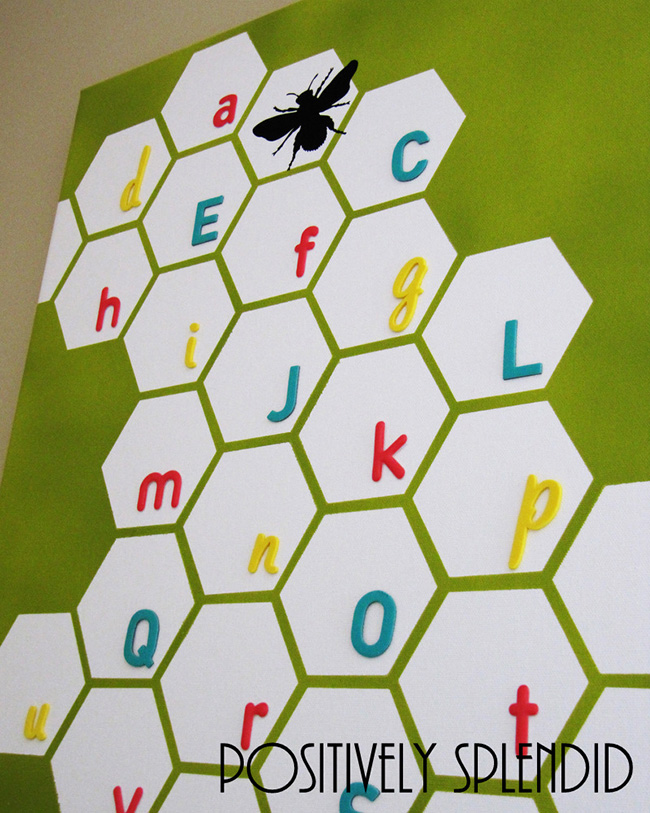 DIY Canvas Art Ideas - Honeycomb