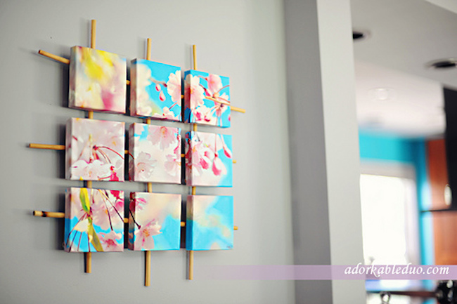 DIY Canvas Art Ideas - Sectioned