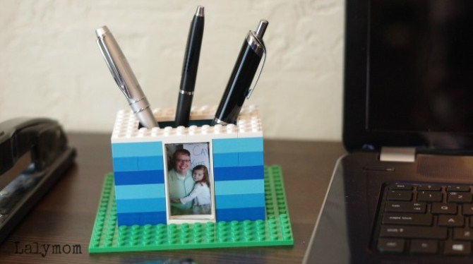 Personalised Father Day Gift - Diy Lego Pen Holder