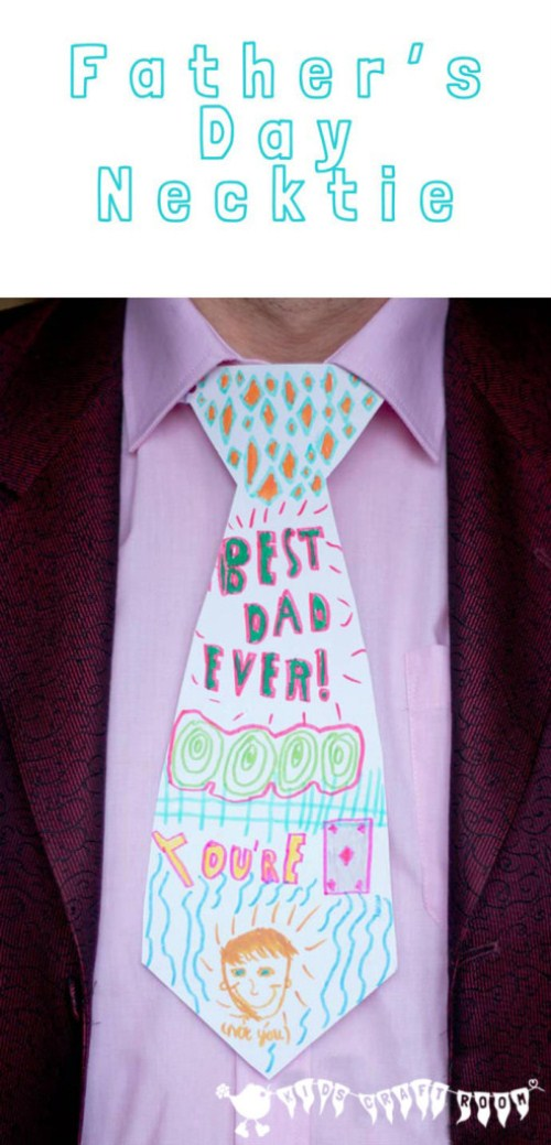Personalised Father Day Gift - Diy Necktie