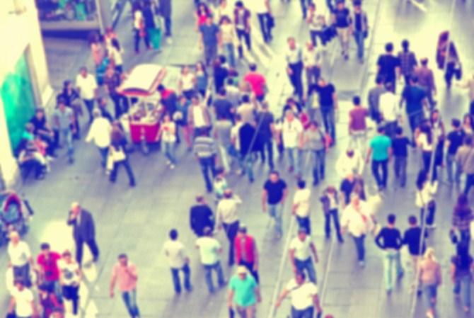 Urban Photography - Blurred Crowd