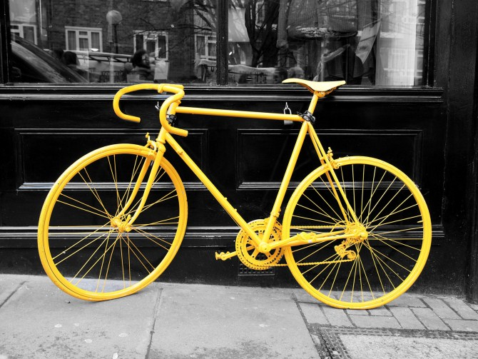 Urban Photography - Yellow Bike