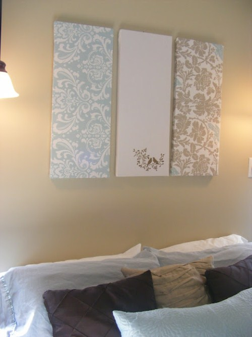 Canvas Art Ideas - Fabric Canvas