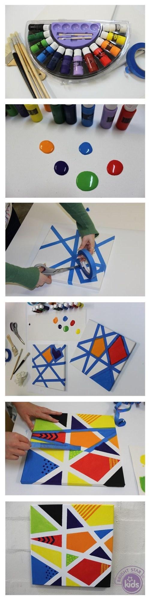Canvas Art Ideas - Tape Canvas