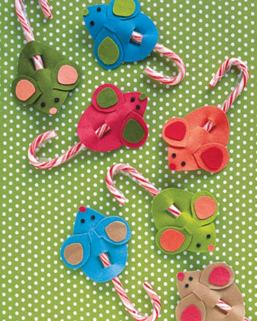 Diy Christmas Decorations - Candy Mice