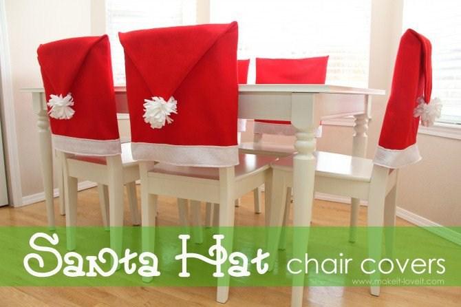Diy Christmas Decorations - Santa Hat Cover