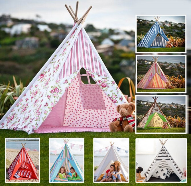 Printed Canvas - Canvas Teepee Tent