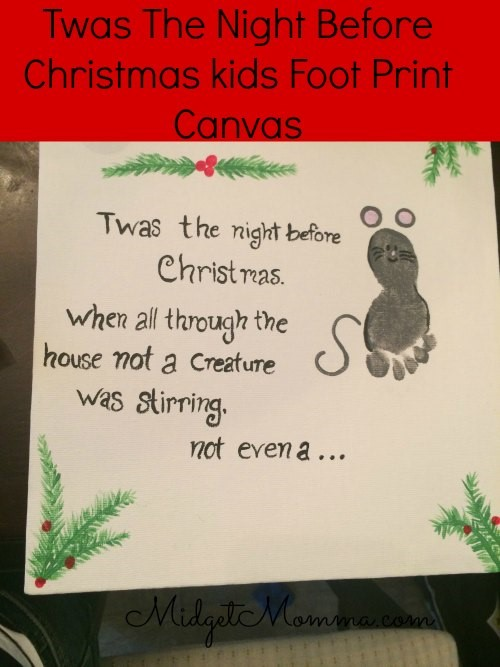 Printed Canvas - Twas The Night Before Christmas