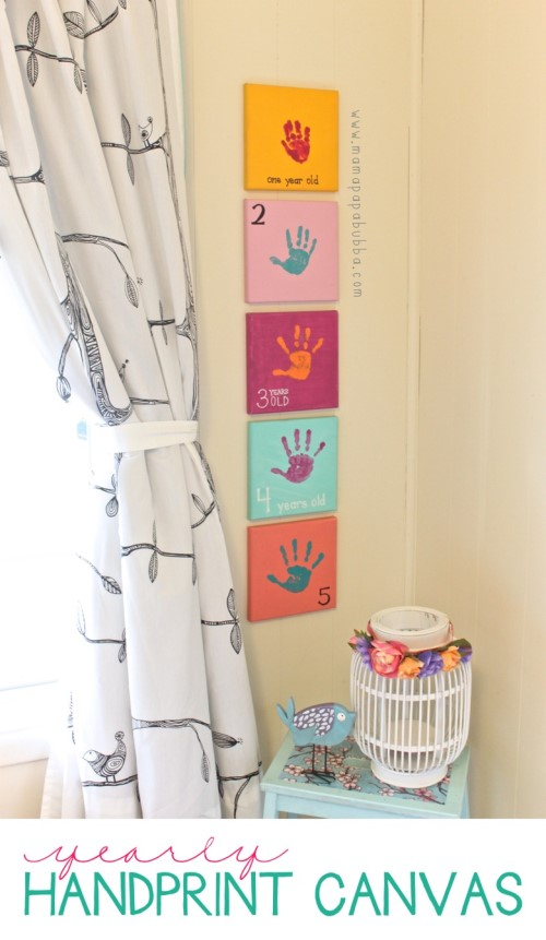 Printed Canvas - Yearly Handprint Canvas