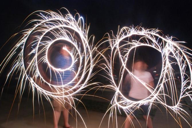 Fun Photography - Sparkler Art