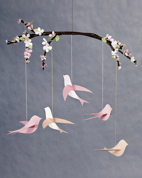 Paper Crafts - Bird Mobile