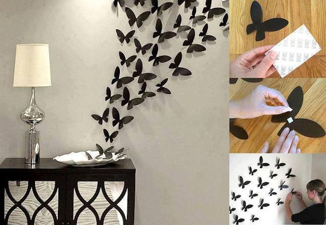 Paper Crafts - Butterfly Wall Art