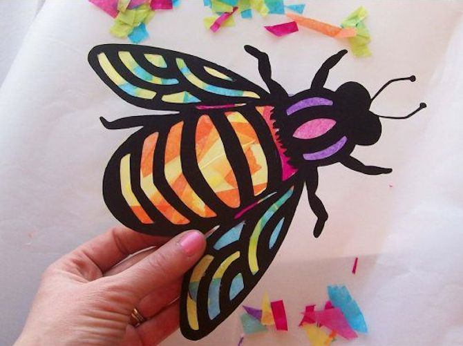 Paper Crafts - Stained Glass Fly