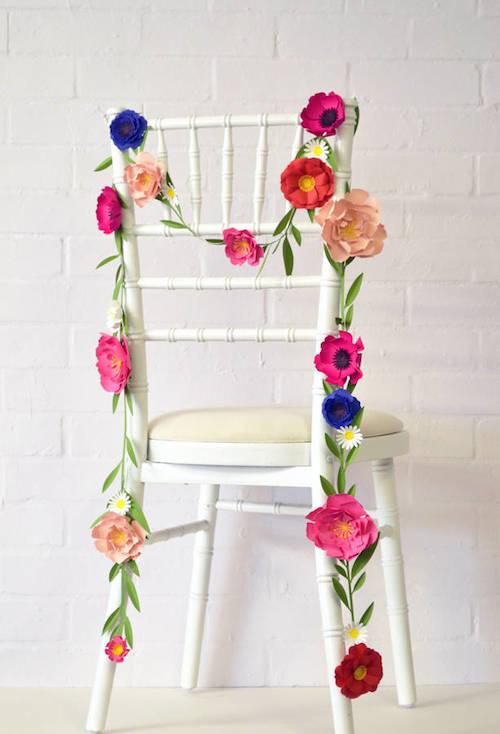 Paper Crafts - Flower Garland
