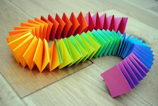 Paper Crafts - Rainbow Garland