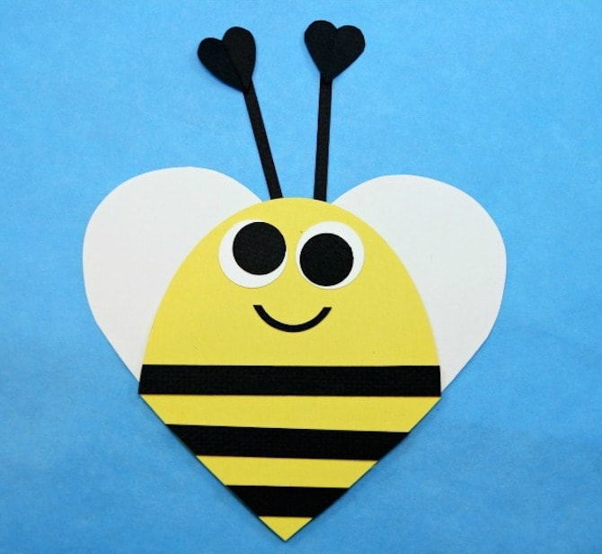 Paper Crafts - Heart Bee