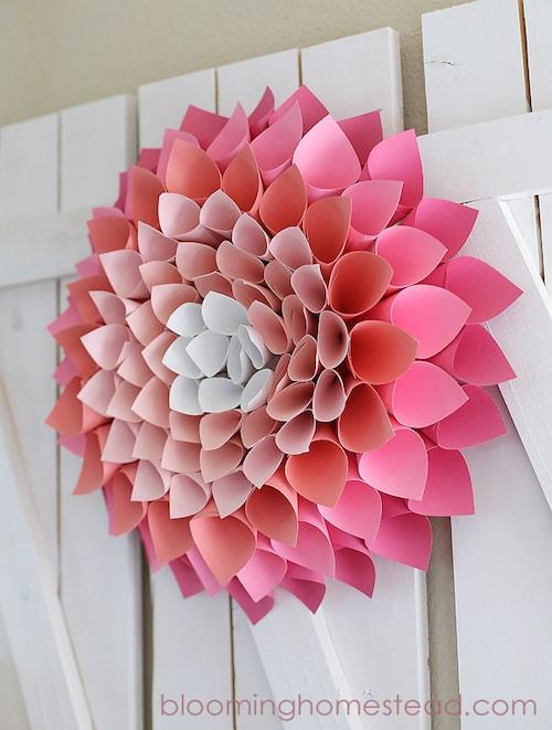 Paper Crafts - Pink Wreath