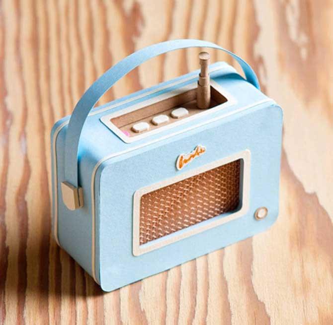 Paper Crafts - Radio Sculpture