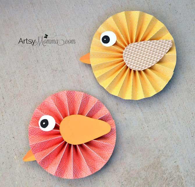 Paper Crafts - Rosette Birds