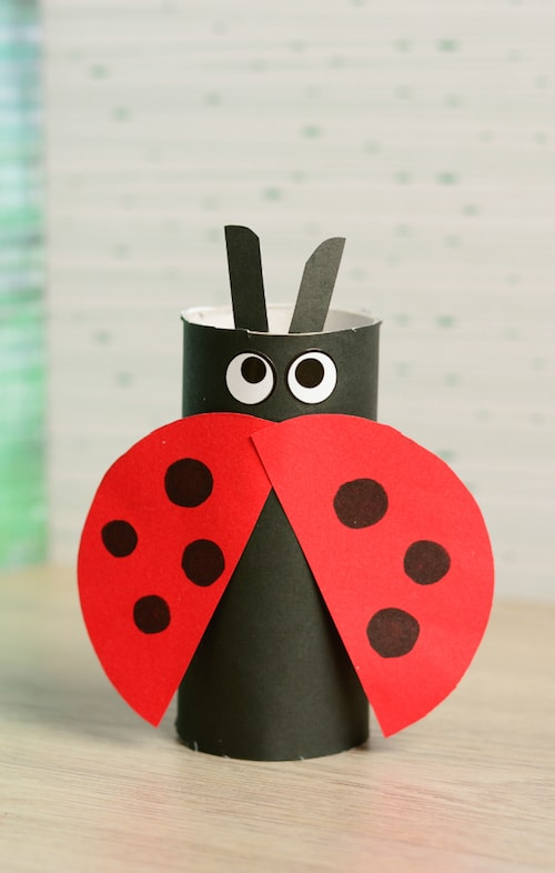 Paper Crafts - Toilet Roll Ladybug