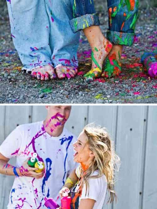 Couple Photos - Funky - Colour