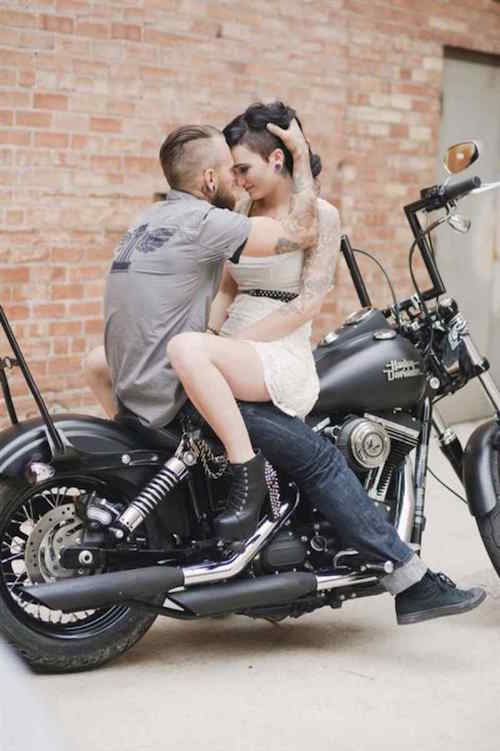 Couple Photos - Funky - Motorcycle