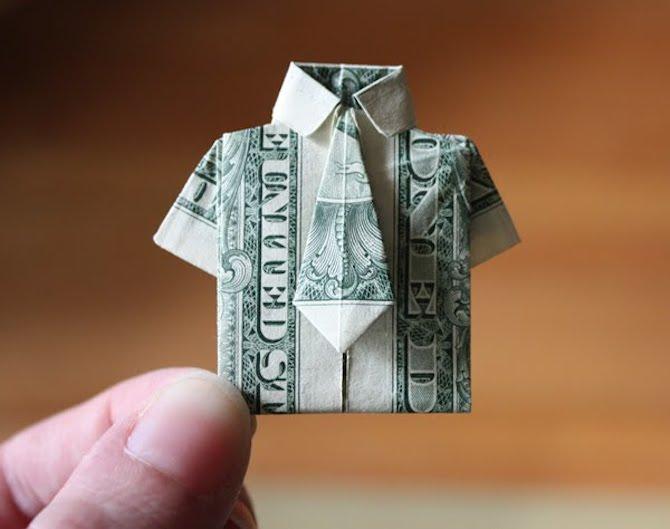 Paper Crafts - Dollar Shirt