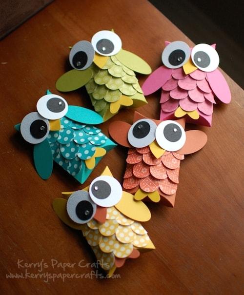 Paper Crafts - Owls