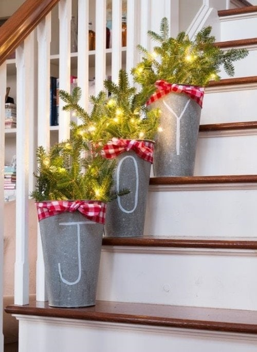 Easy Christmas Crafts - Buckets