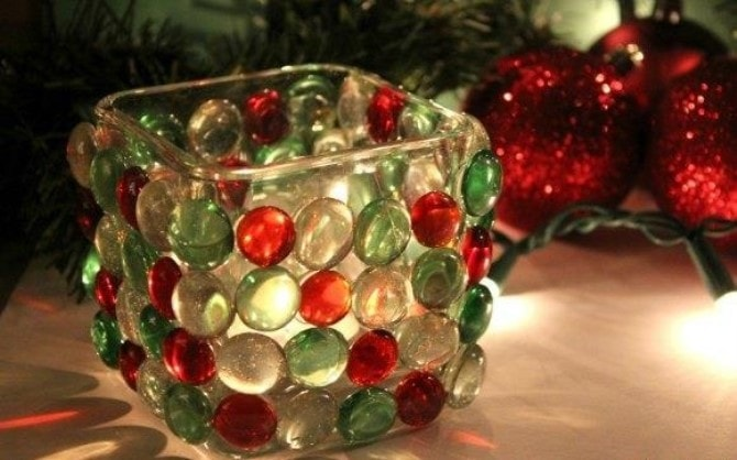 Easy Christmas Crafts - Candle Holder