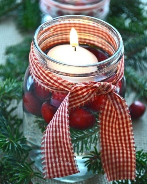 Easy Christmas Crafts - Candle In Jar