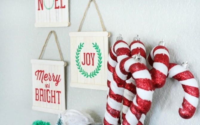 Easy Christmas Crafts - Pallete Sign