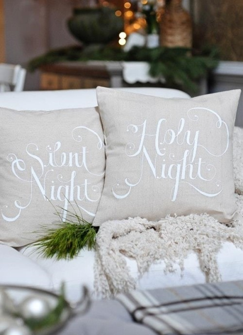 Easy Christmas Crafts - Pillows
