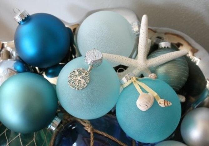 Easy Christmas Crafts - Sea Glass Ornaments