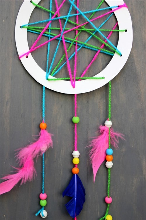 Mothers Day Crafts For Kids - Dream Catcher