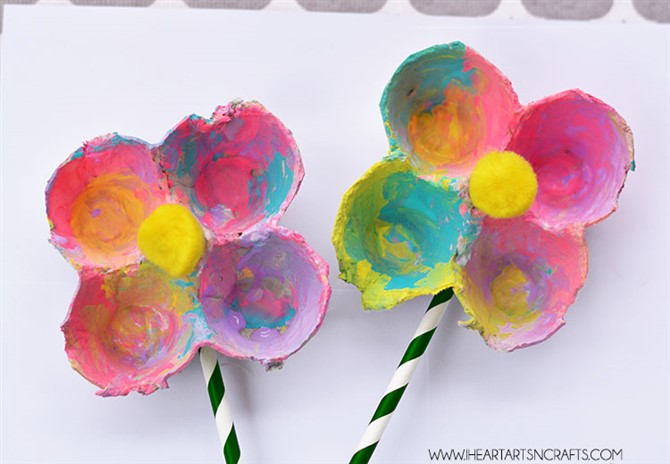Mothers Day Crafts For Kids - Carton Flower