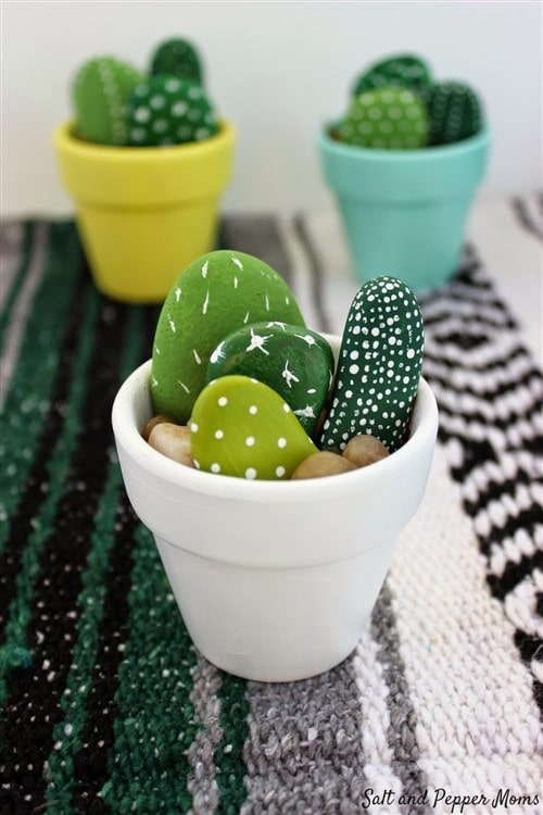 Mothers Day Crafts For Kids - Mini Cactus
